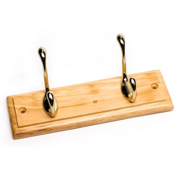 Pine Coat Hook - 2 Hooks