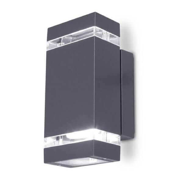 Lutec Focus 7.6W LED Up/Down Wall Light - Graphite