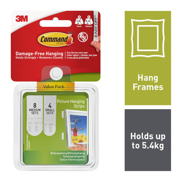 Command Small and Medium Picture Hanging Strips Value Pack - 12 Sets