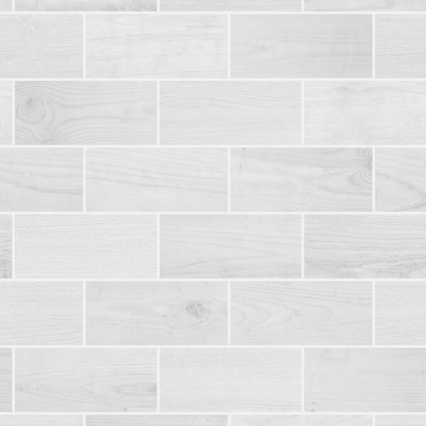 Wooden Tile White Wallpaper