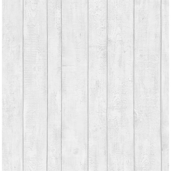 Contour Plank White Wallpaper