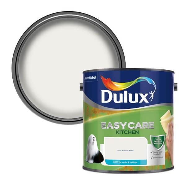 Dulux Easycare Kitchen Pure Brilliant White - Matt Paint - 2.5L