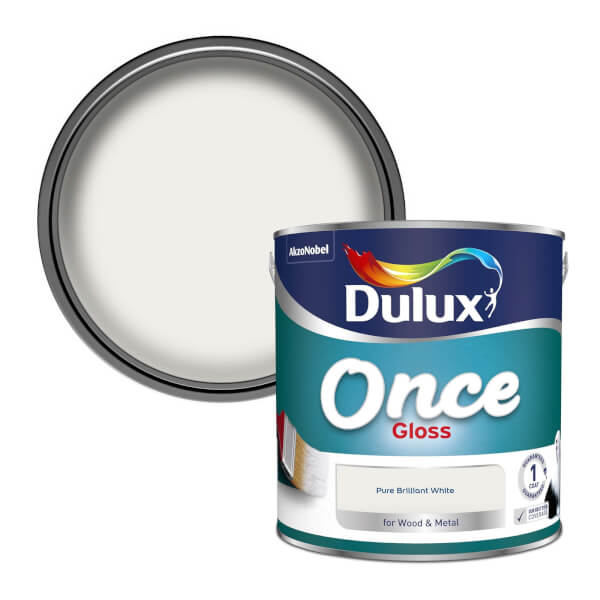 Dulux Once Pure Brilliant White - Gloss Paint - 2.5L