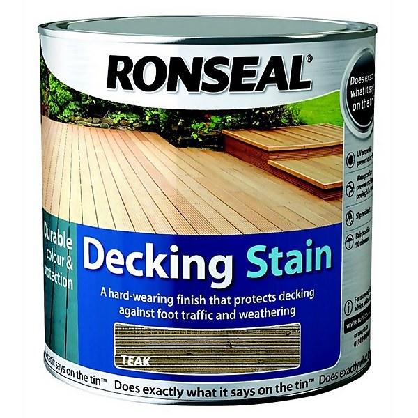 Ronseal Decking Stain Teak - 2.5L