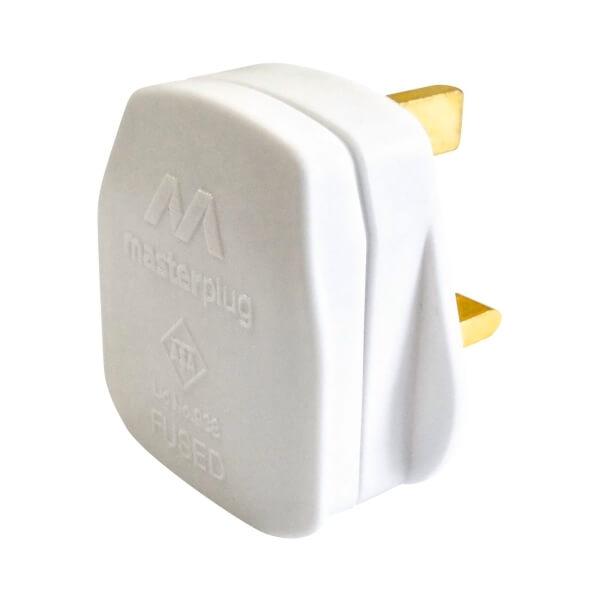 Masterplug 13A Rewirable Plug Socket White 4 Pack