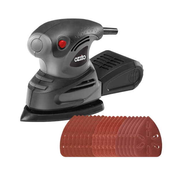 Ozito by Einhell 180W Detail Sander with 20 Sanding Sheets