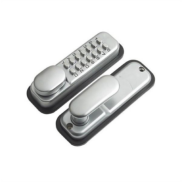 Yale Push Button Door Lock - Chrome