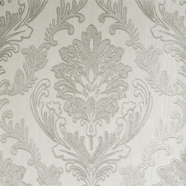 Boutique HWV Corsetto Damask Ivory Wallpaper