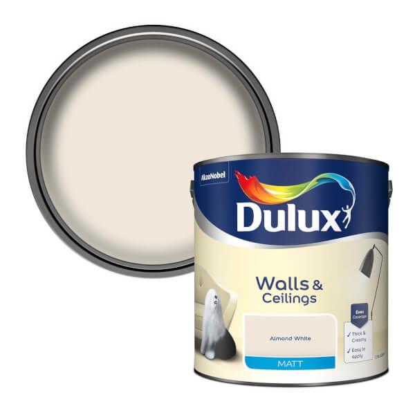 Dulux Almond White - Matt Emulsion Paint - 2.5L