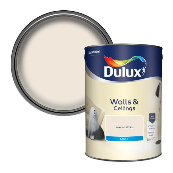 Dulux Almond White - Matt Emulsion Paint - 5L