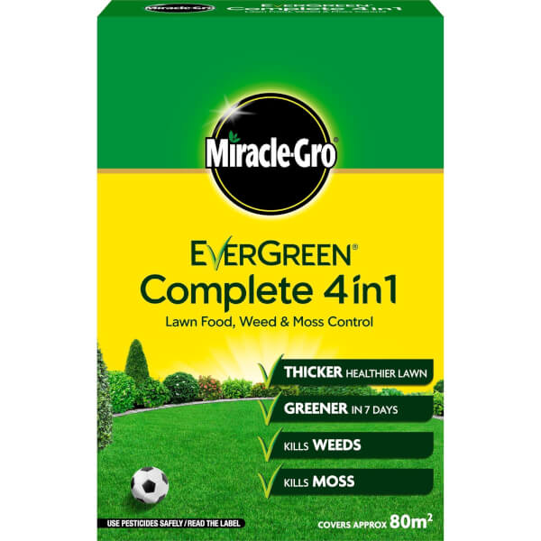 Miracle-Gro EverGreen Complete 4-in-1 Lawn Food, Weed & Moss Killer - 80m2
