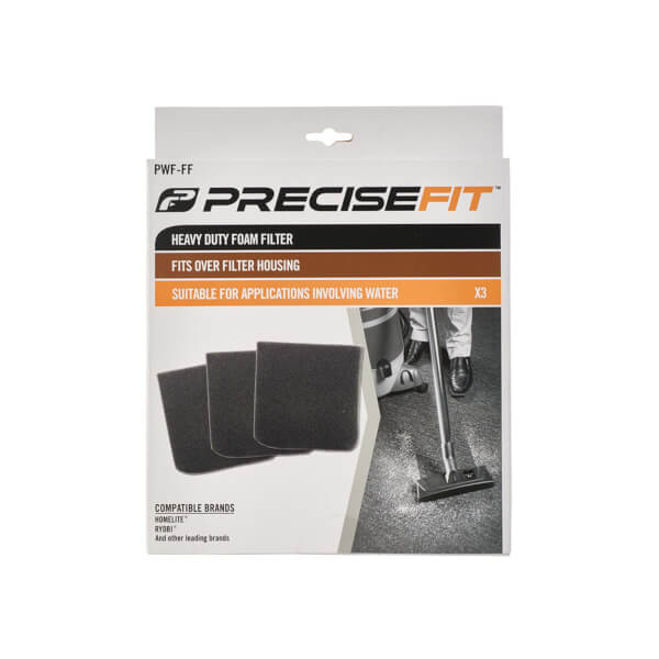 PreciseFit Heavy Duty Foam Filter 3 Pack PWF-FF