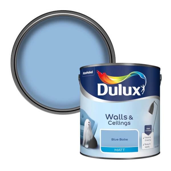 Dulux Blue Babe - Matt Emulsion Paint - 2.5L