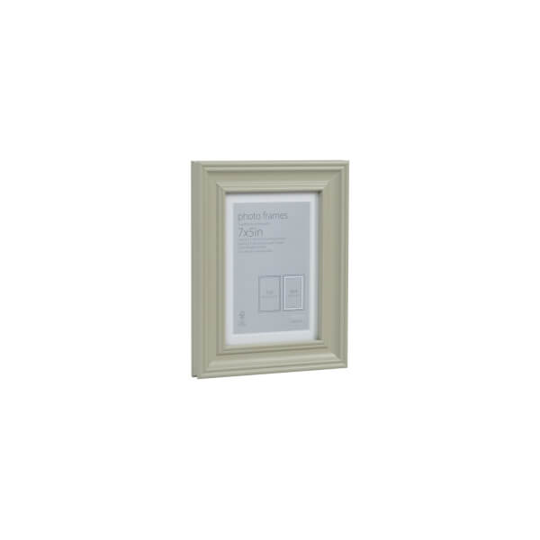 Wooden Photo Frame Sage Green 7 x 5 with 6 x 4 Mount Aperture