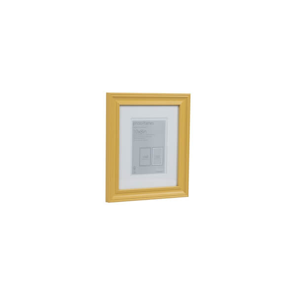 Wooden Photo Frame Ochre 10 x 8 with 7 x 5 Mount Aperture