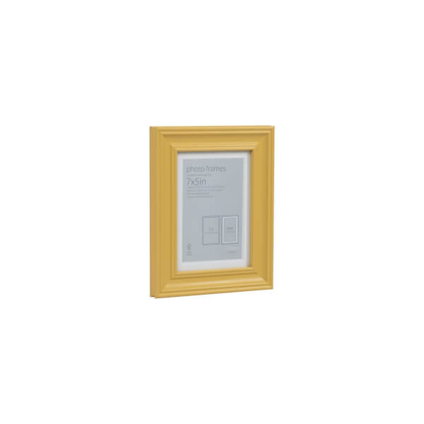 Wooden Photo Frame Ochre 7 x 5 with 6 x 4 Mount Aperture