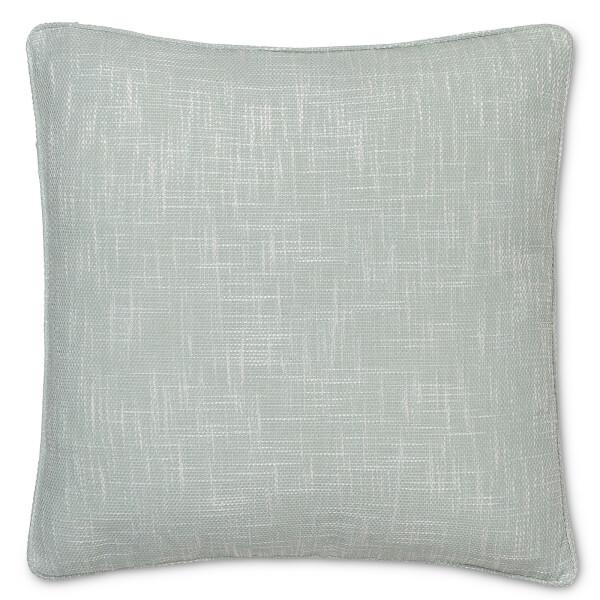 Semi Plain Textured Cushion - Duck Egg