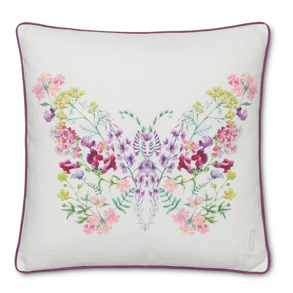 Printed Multi-coloured Butterfly Cushion