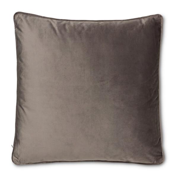 Plain Velvet Cushion - Grey - 45 x 45cm