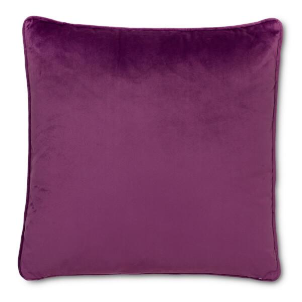 Plain Velvet Cushion - Purple - 45 x 45cm