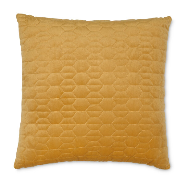 Quilted Cushion - Ochre