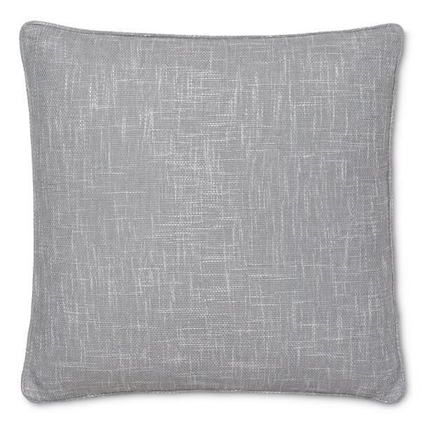 Semi Plain Textured Cushion - Grey