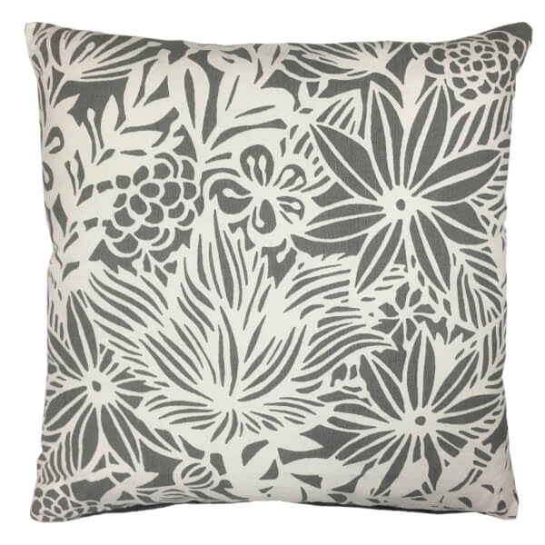 Grey Patterned Cushion