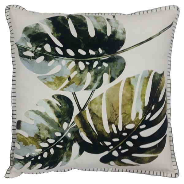 Midnight Garden Leaf Cushion