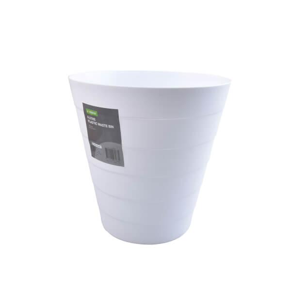 Plastic Waste Bin - White