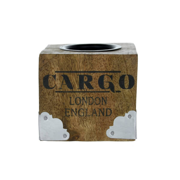 Wooden Cargo Tea Light Holder