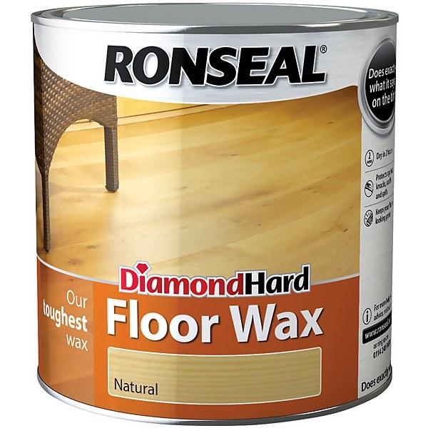 Ronseal Diamond Hard Floor Wax - Natural - 2.5L