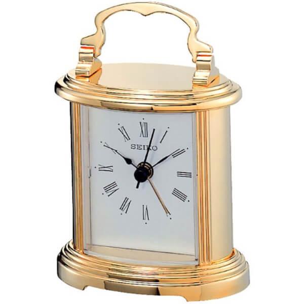 Seiko Mantel Alarm Clock - Gold