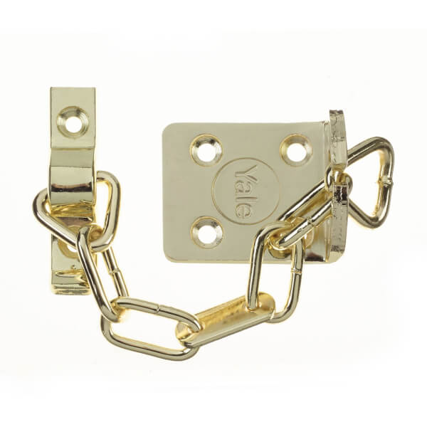 Yale WS6 TS003 rated Security Door Chain - Polished Brass
