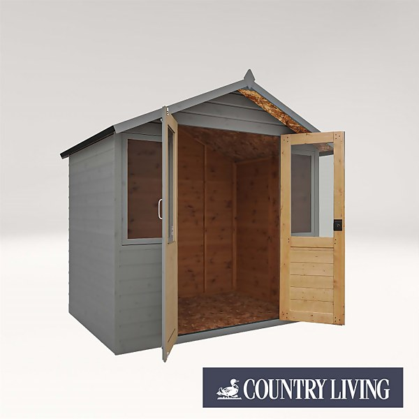 Country Living Flintham 7 x 5 Traditional Summerhouse Painted + Installation - Thorpe Towers