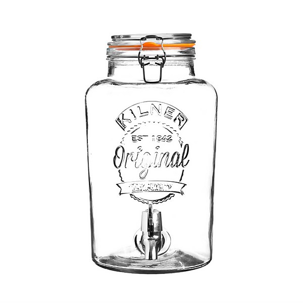 Kilner Clip Top Round Drinks Dispenser 5 Litre