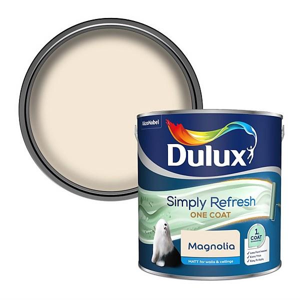Dulux Simply Refresh One Coat Matt Emulsion Paint - Magnolia - 2.5L
