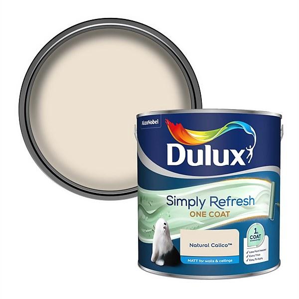 Dulux Simply Refresh One Coat Matt Emulsion Paint - Natural Calico - 2.5L