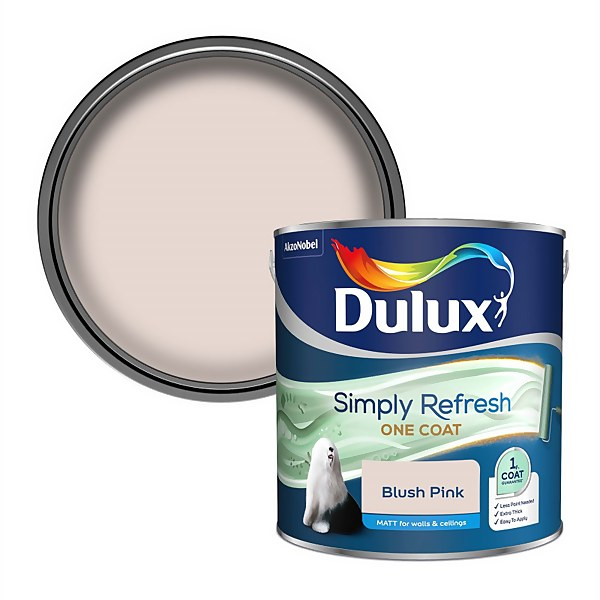 Dulux Simply Refresh One Coat Matt Emulsion Paint - Blush Pink - 2.5L