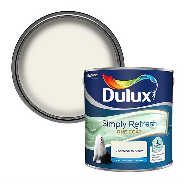 Dulux Simply Refresh One Coat Matt Emulsion Paint - Jasmine White - 2.5L