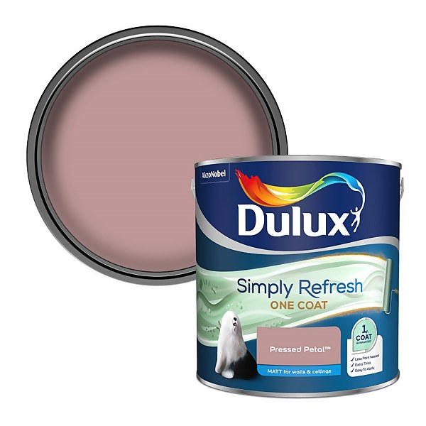 Dulux Simply Refresh One Coat Matt Emulsion Paint - Pressed Petal - 2.5L