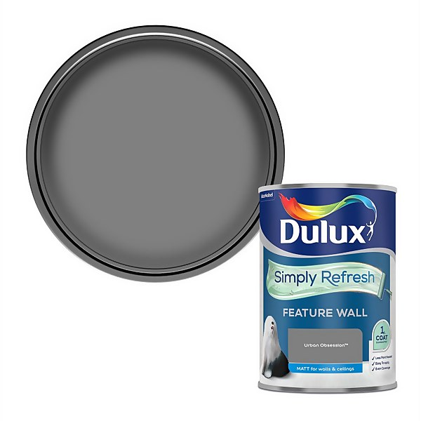Dulux Simply Refresh Feature Wall One Coat Matt Emulsion Paint - Urban Obsession - 1.25L
