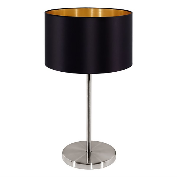 EGLO Maserlo Black and Copper Table Lamp