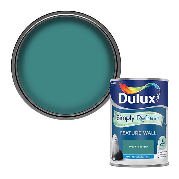 Dulux Simply Refresh Feature Wall One Coat Matt Emulsion Paint - Proud Peacock - 1.25L