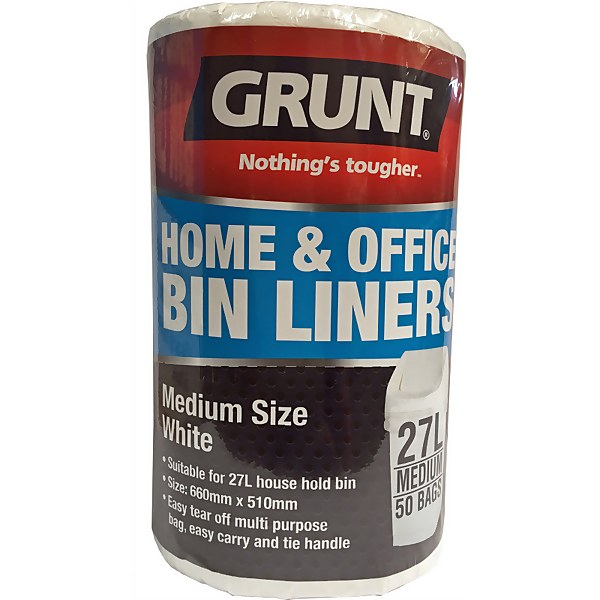 Grunt 27L Home Office Bin Liners - 50 Pack