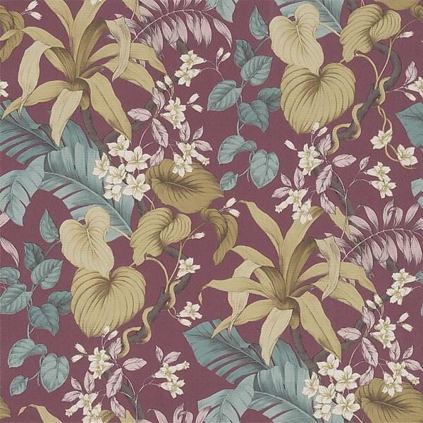 Grandeco Boutique Clarence Vesoule Plum Wallpaper