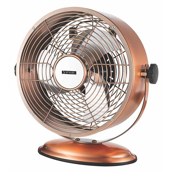 8 Inch Metal Clock Copper Fan