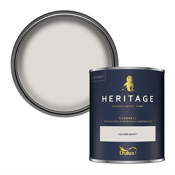 Dulux Heritage Eggshell Paint - Chiltern White - 750ml