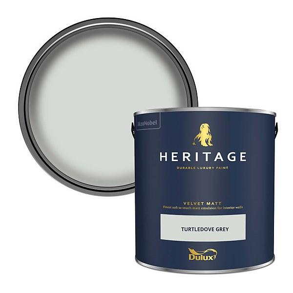 Dulux Heritage Matt Emulsion Paint - Turtledove Grey - 2.5L