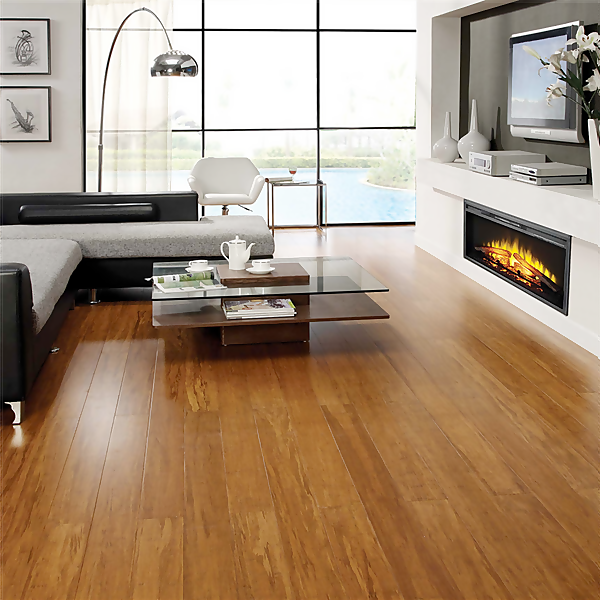 Carbonised Strand Woven Solid Bamboo Flooring