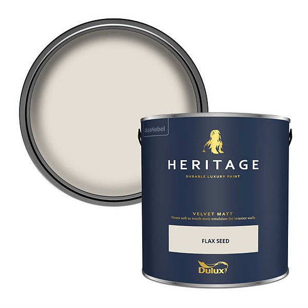 Dulux Heritage Matt Emulsion Paint - Flax Seed - 2.5L